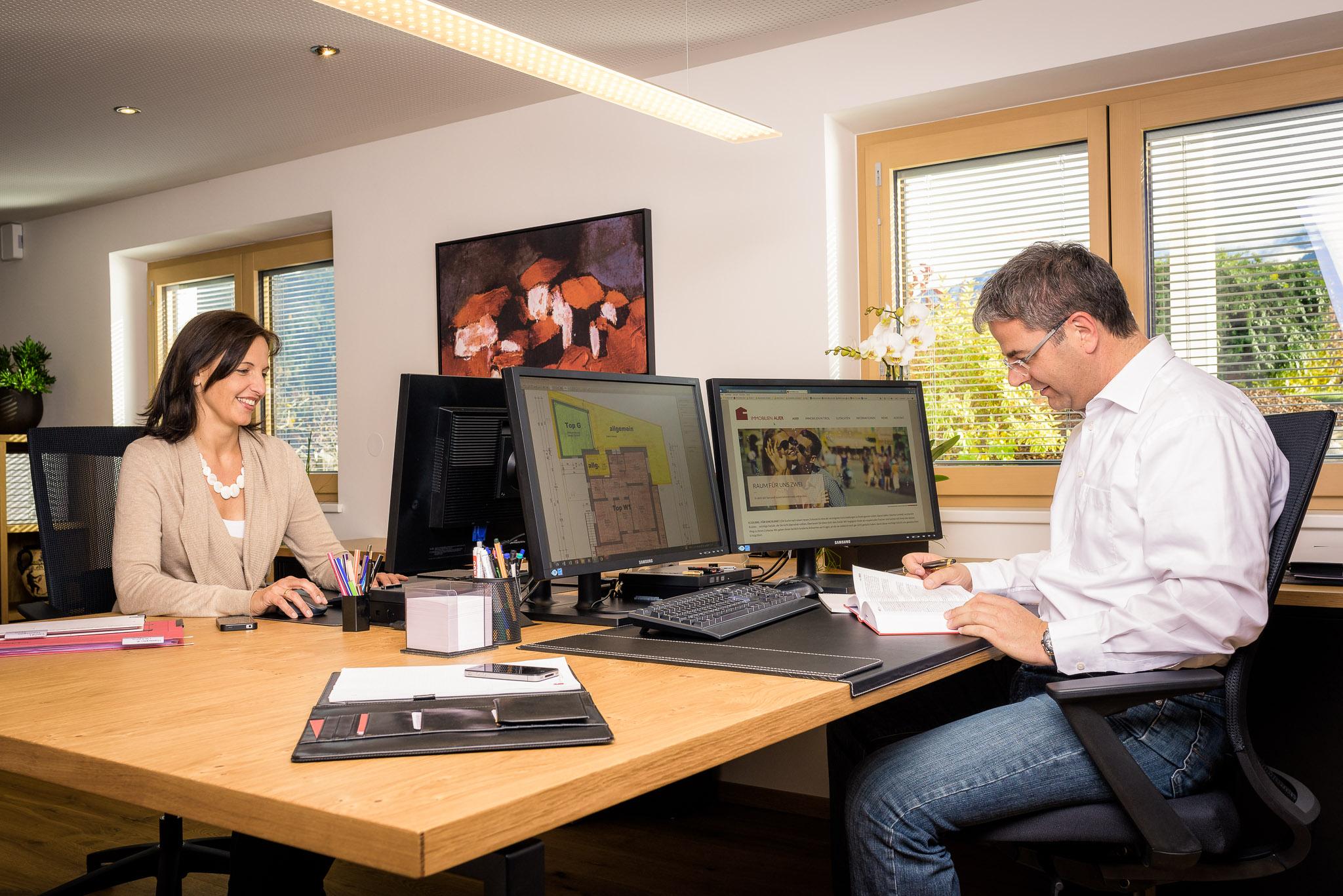 Mag. Rainer Auer und Sabine Auer Immobilien Auer - Foto Andreas Schalber